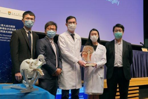 將磁力共振引導的激光消融術 應用在經口腔微創治療